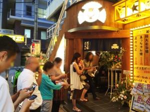 武蔵小杉店のイベント行列