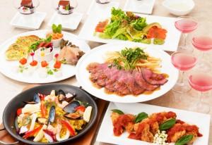 コース料理(一例)1980円~(時間帯により異なる)