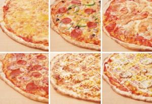 NYピザのラインアップ