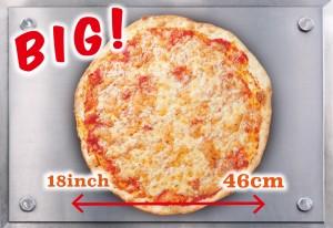 全7種のニューヨークピザは、すべて直径46センチのビッグサイズ