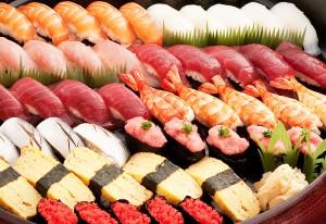 新鮮なネタのお好み握り寿司が食べ放題