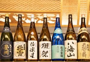 蔵元からの選りすぐりの日本酒(各種1合650円税別~)