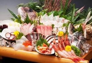 仰天!大漁盛り<12点盛り>(令人惊艳 ! 豪华海鲜生鱼片拼盘<12种>)