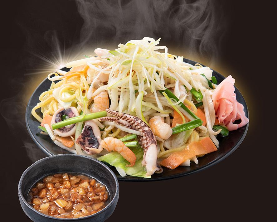 野菜増し!背脂塩焼きそば【並】※茶色いやつは背脂タレ!スープじゃないよ!