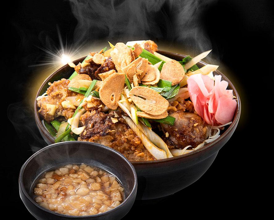 リピ確定! 鶏レバ唐揚げ丼【並】※茶色いやつは背脂タレ!スープじゃないよ!